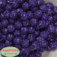 Bulk 14mm Deep Purple Rhinestone