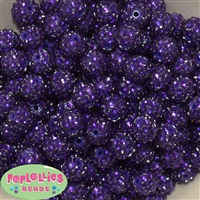 14mm Deep Purple Rhinestone 20 pc