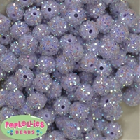 14mm Ice Lavender Rhinestone Bubblegum Beads Bulk