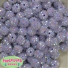 14mm Ice Lavender Rhinestone Bubblegum Beads