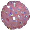 14mm Ice Pink Rhinestone Bubblegum Beads