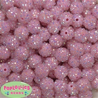 14mm Ice Pink Rhinestone 20 pack