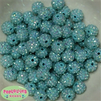 Bulk 14mm Mint  Rhinestone Beads