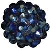 14mm Navy Blue Rhinestone Bubblegum Beads