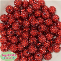 Bulk 14mm Red Rhinestone Beads