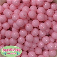 14mm Baby Pink Bubblegum Beads