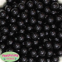 14mm Black Acrylic Bubblegum Beads