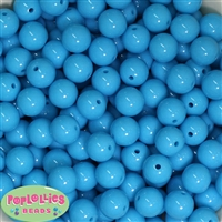 14mm Sky Blue Acrylic Bubblegum Beads