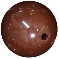 14mm Brown Acrylic Bubblegum Bead