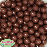 14mm Brown Acrylic Bubblegum Beads