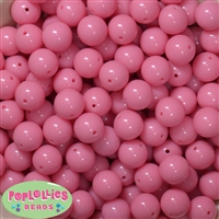 14mm Bubblegum Pink Acrylic Beads