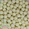 14mm Cream Acrylic Beads
