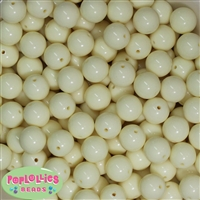 14mm Cream Acrylic Bubblegum Beads