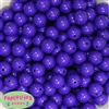 14mm Dark Purple Acrylic Bubblegum Beads