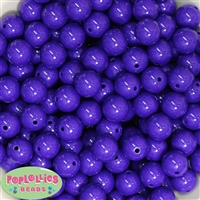 14mm Dark Purple Acrylic Beads
