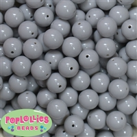 14mm Gray Acrylic Bubblegum Beads