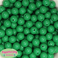 14mm Emerald Green Acrylic Bubblegum Beads