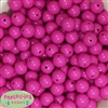 14mm Hot Pink Acrylic Beads