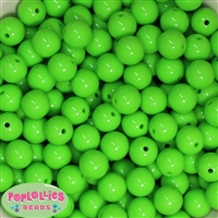 14mm Lime Green Acrylic Bubblegum Beads