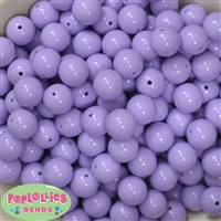 14mm Light Lavender Acrylic Bubblegum Beads