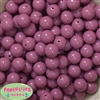 14mm Mauve Acrylic Beads