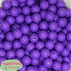 14mm Medium Purple Acrylic Bubblegum Beads