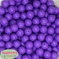14mm Medium Purple Acrylic Beads