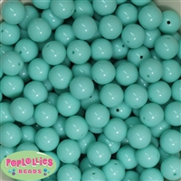 14mm Mint Acrylic Bubblegum Beads