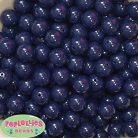 14mm Navy Blue Acrylic Bubblegum Beads