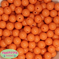14mm Orange Acrylic Beads