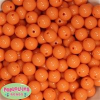 14mm Orange Acrylic Bubblegum Beads