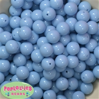 14mm Periwinkle Blue Acrylic Bubblegum Beads