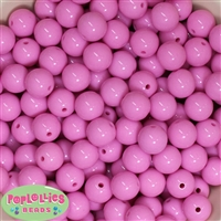 14mm Pink Acrylic Bubblegum Beads