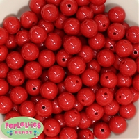 14mm Red Acrylic Bubblegum Beads