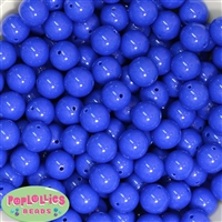 14mm Royal Blue Acrylic Bubblegum Beads
