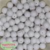 14mm White Acrylic Bubblegum Beads