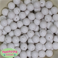 14mm White Acrylic Beads