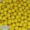 14mm Yellow Acrylic Beads