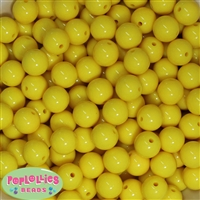 14mm Yellow Acrylic Bubblegum beads