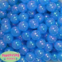 16mm Blue Bubble Acrylic Bubblegum Beads
