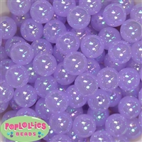 16mm Lavender Bubble Acrylic Bubblegum Beads