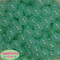 16mm Mint Bubble Acrylic Bubblegum Beads