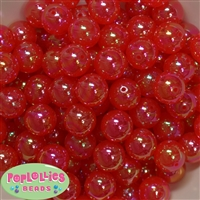 16mm Red Bubble Acrylic Bubblegum Beads