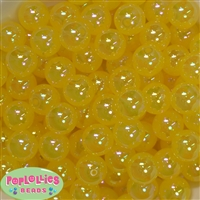 16mm Yellow Bubble Acrylic Bubblegum Beads