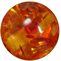16mm Orange Clear Marble Style Acrylic Gumball Bead