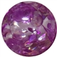 16mm Purple Clear Marble Style Acrylic Gumball Bead