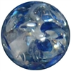 16mm Royal Blue Clear Marble Style Acrylic Gumball Bead