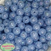 16mm Baby Blue Crackle Acrylic Bubblegum Beads