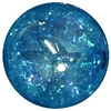 16mm Blue Crackle Acrylic Bubblegum Bead