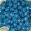 16mm Blue Crackle Acrylic Bubblegum Beads